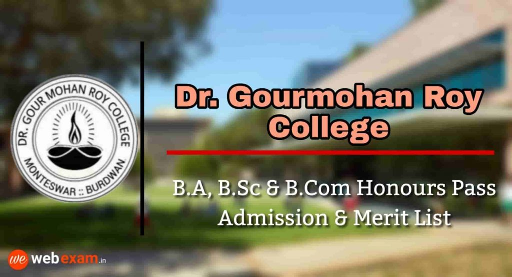 Dr Gourmohan Roy College Admission