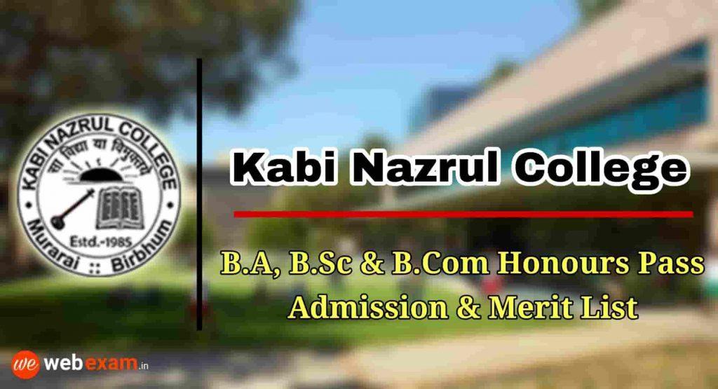 Kabi Nazrul College Admission