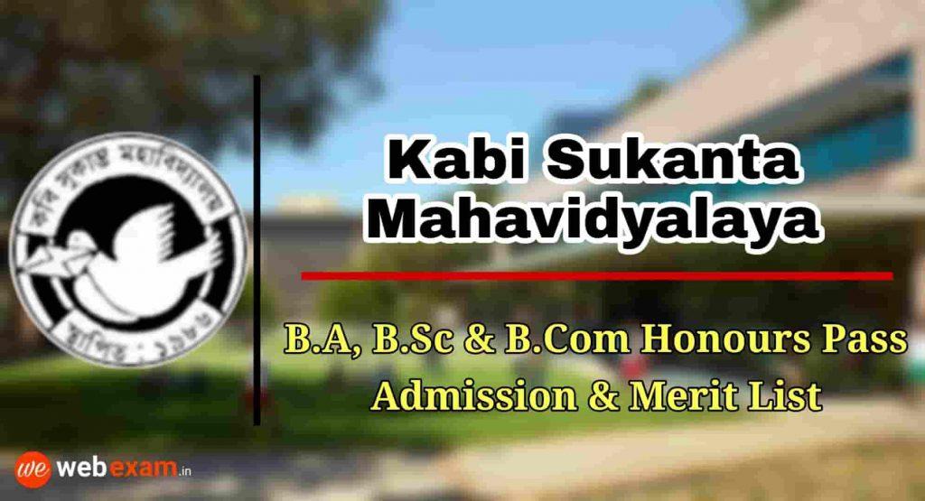 Kabi Sukanta Mahavidyalaya Admission