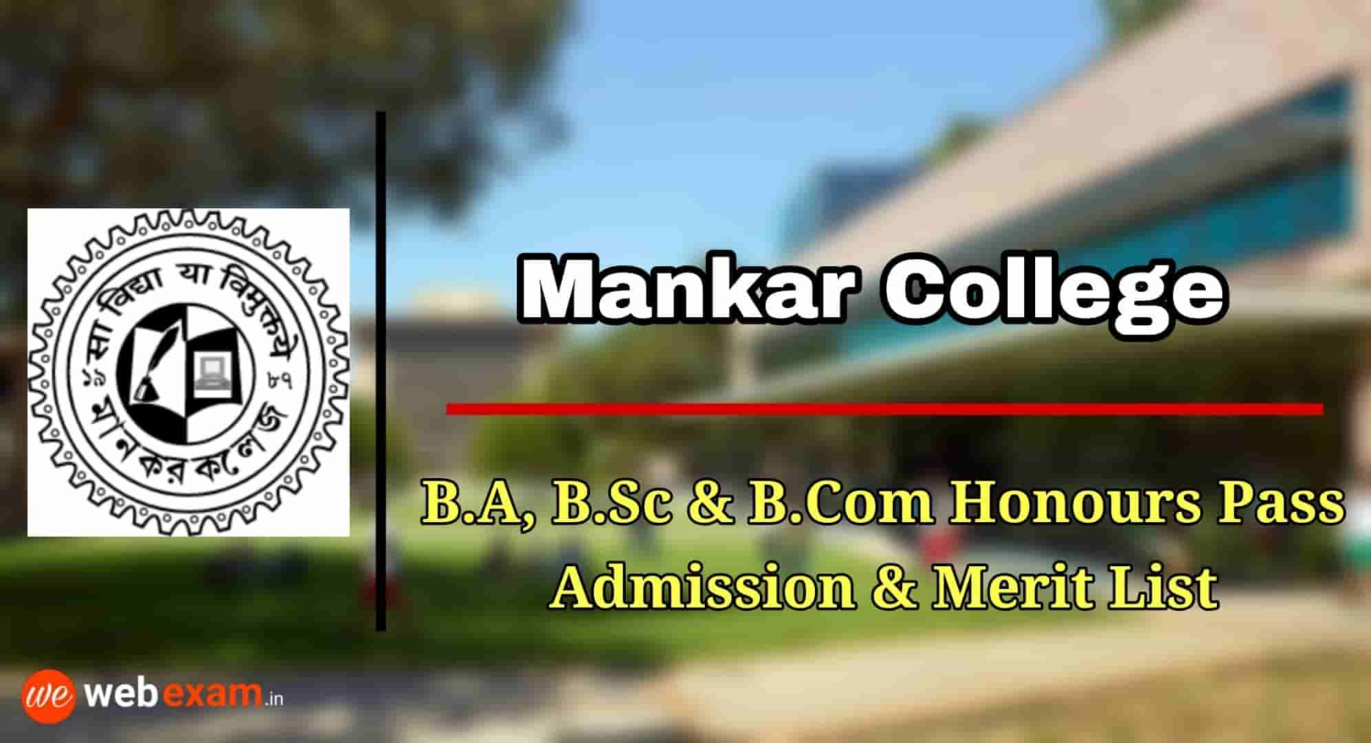 Mankar College Admission