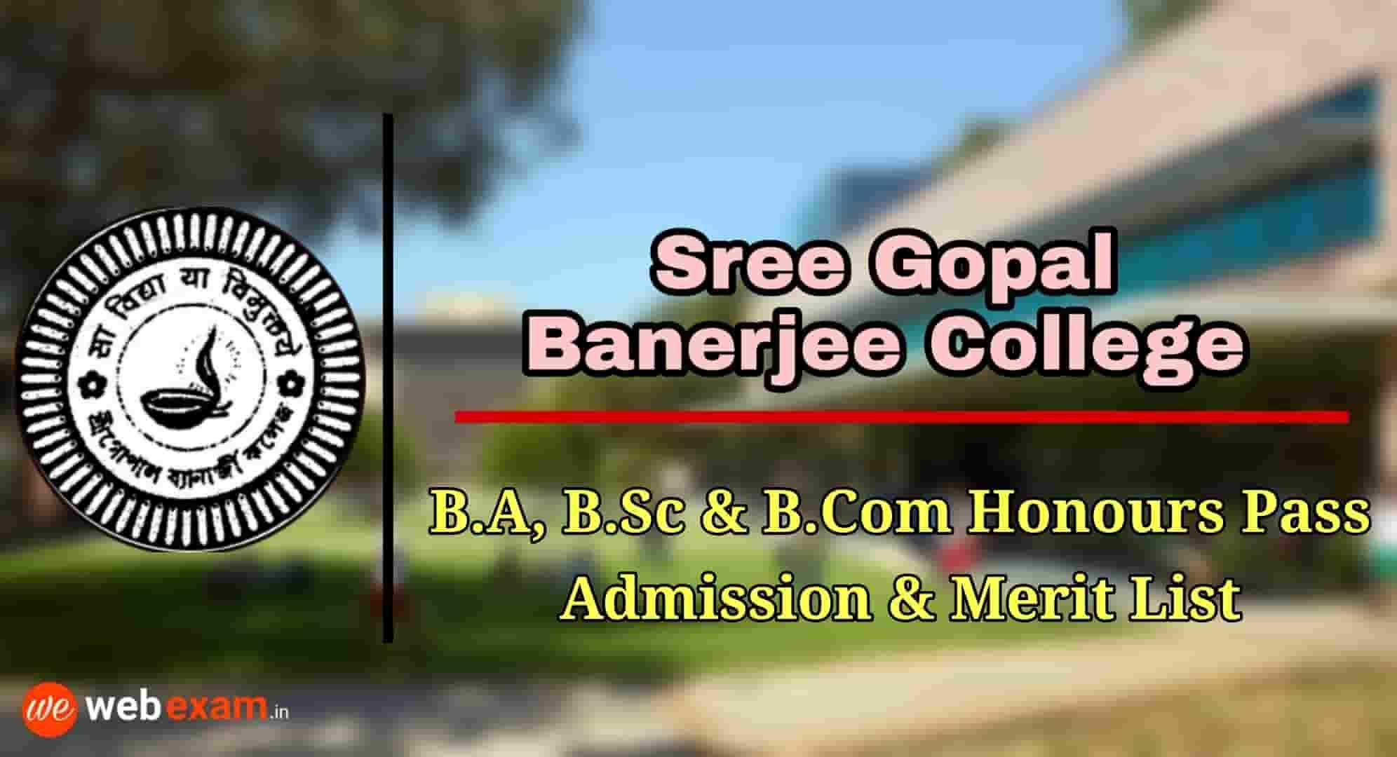 Sree Gopal Banerjee College Admission
