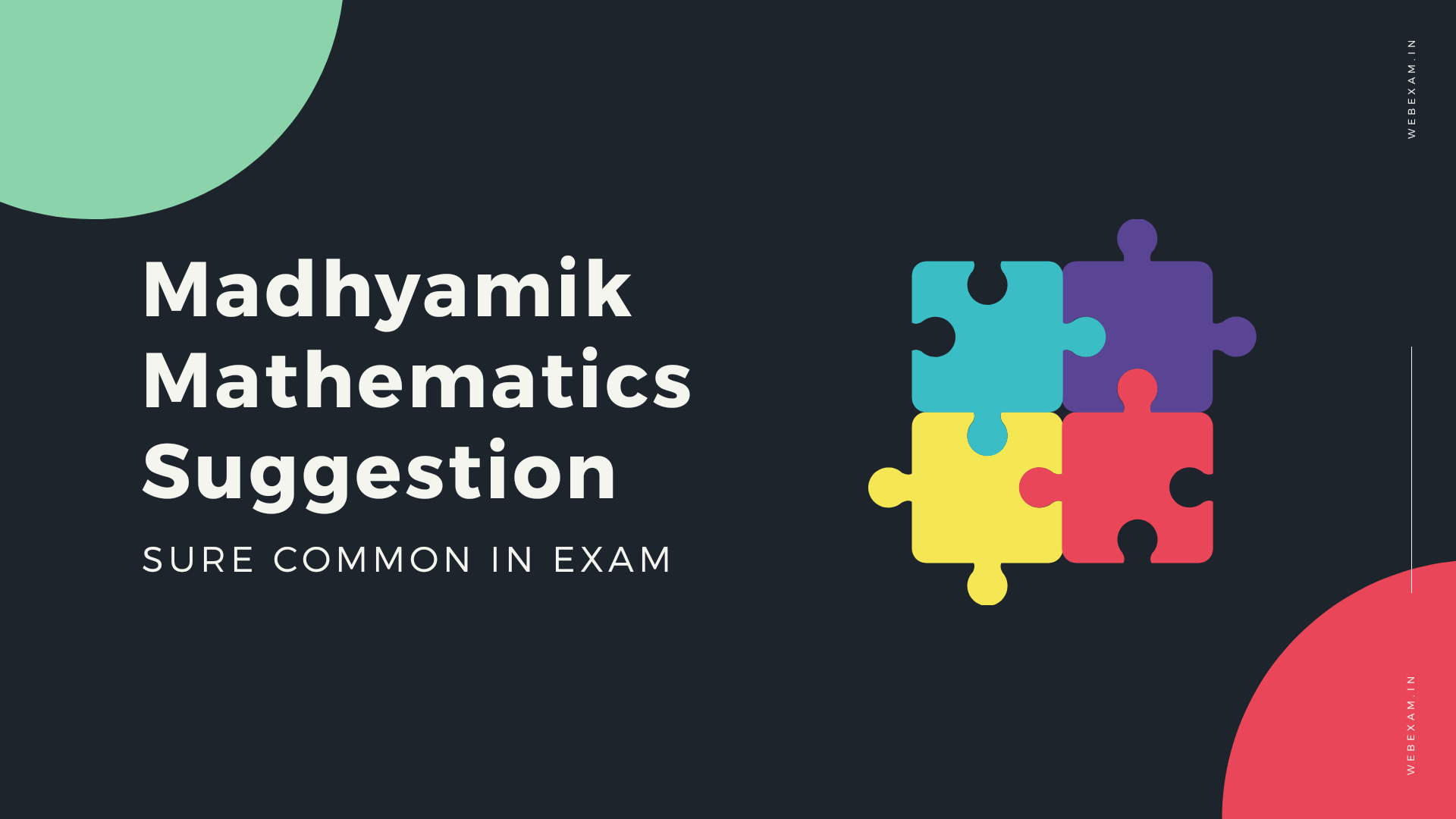 Madhyamik Mathematics Suggestion 2021