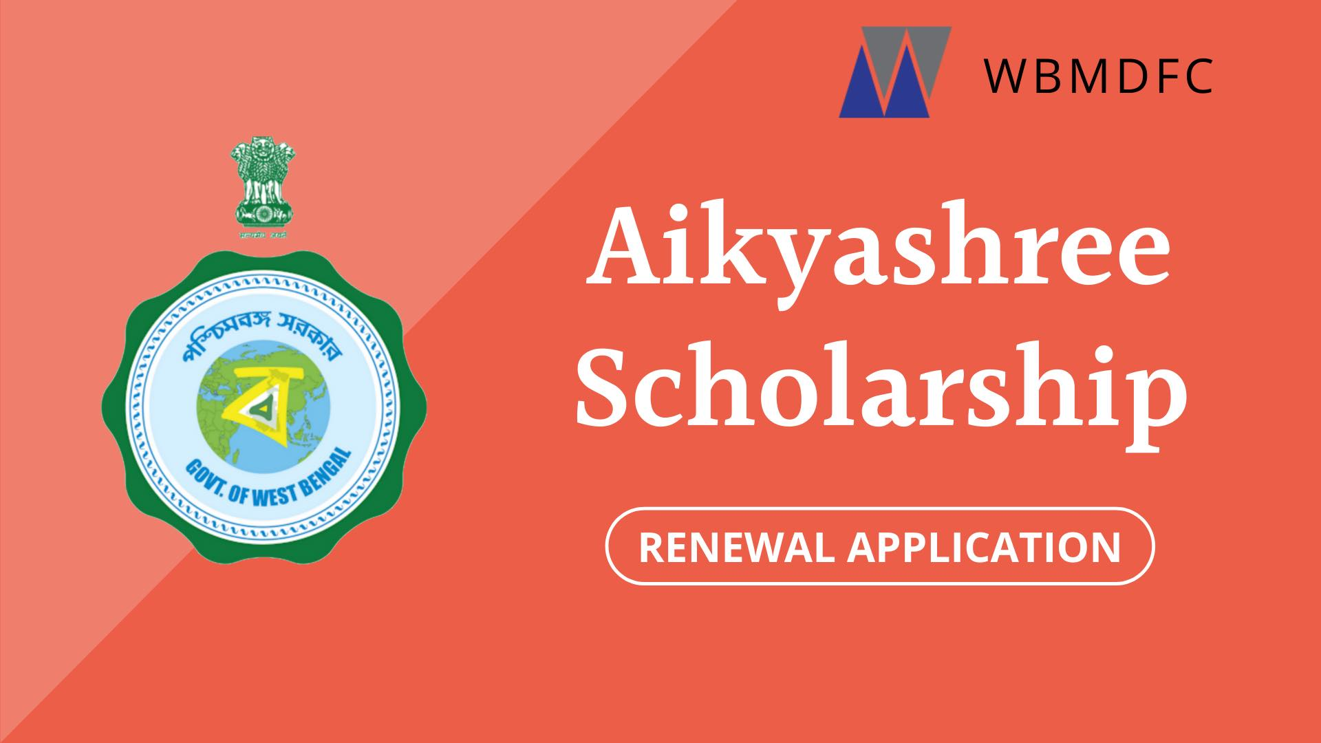 Aikyashree Scholarship Renewal Application