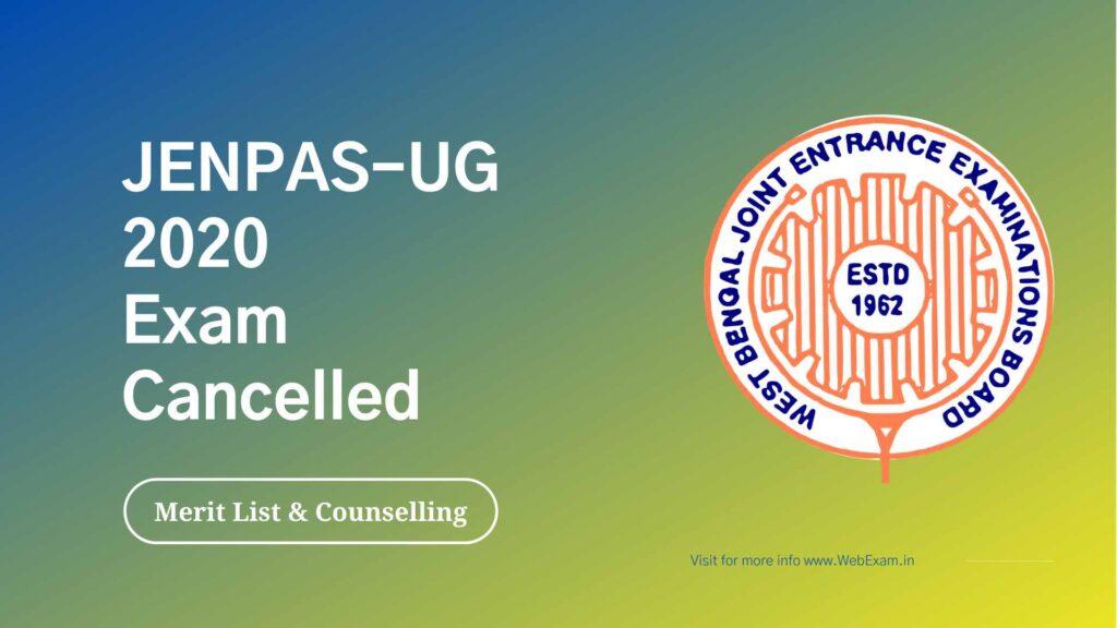 WBJEE JENPAS UG 2020 Exam cancelled