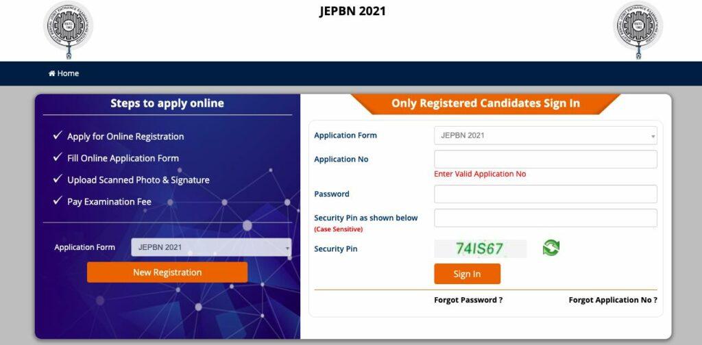 WBJEEB JEPBN Online Application