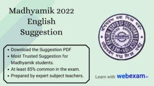 Madhyamik 2022 English Suggestion PDF Download Sure Common