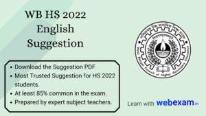 WB HS 2022 English Suggestion PDF Download