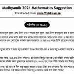 Madhyamik 2021 Mathematics Suggestion pdf